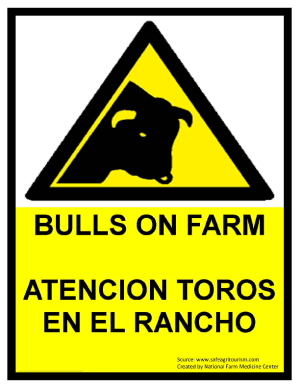 Bulls On Farm Warning
