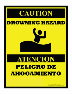 Drowning Hazard Sign
