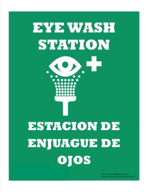 Eye Wash Sign