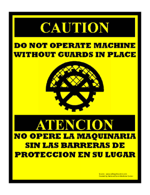Machine Guard Sign