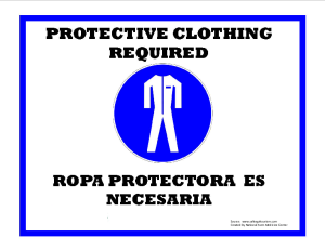 Protective Clothing Required Sign