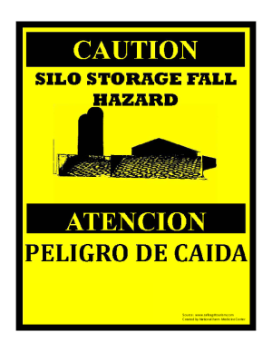 Silo Storage Hazard Sign