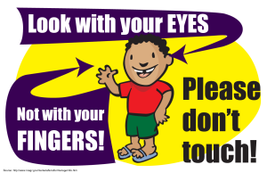 Look with Eyes Sign